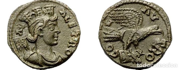 ALEJANDRÍA (TROAS). TYSE. AE 21 .REV. AGUILA SOBRE CABEZA DE TORO.. (Numismática - Periodo Antiguo - Roma Imperio)