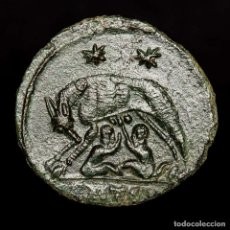 Monedas Imperio Romano: URBS ROMA, FOLLIS, TESALONICA SMTSЄ LOBA, ROMULO Y REMO (4376). Lote 173557530