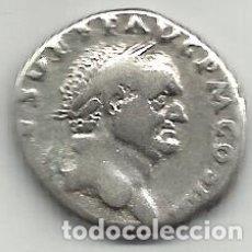 Monedas Imperio Romano: VESPASIANO - DENARIO - ROMA 72 / 73 D C. - MBC / MBC+.. Lote 173666310