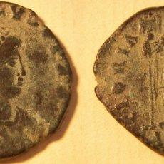 Monedas Imperio Romano: MONEDA DEL EMPERADOR HONORIO REVERSO GLORIA ROMANORUM CECA ANTIOQUIA. Lote 174965649