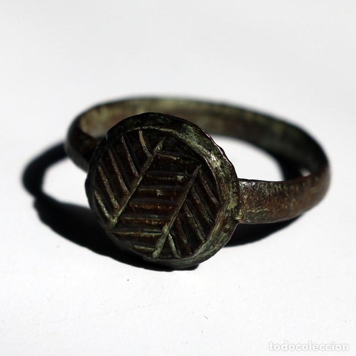 BONITO ANILLO ROMANO CON DOS ESPIGAS (Numismática - Periodo Antiguo - Roma Imperio)