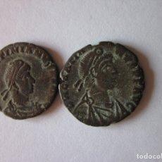 Monedas Imperio Romano: 2 MAIORINAS DE VALENTINIANO Y GRACIANO. ROMA.. Lote 178623773