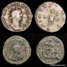 Monedas Imperio Romano: ROMA LOTE DOS MONEDAS. GALIENO (253-268) Y VALENTINIANO II (375-392). Lote 179960553