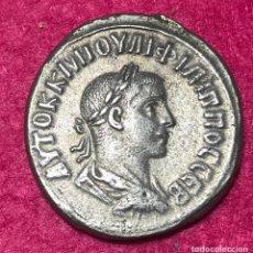 Monedas Imperio Romano: TETRADRACMA DE FILIPO II - 247-249 D.C - ANTIOQUIA - 12,34G AG - ESCASA - MBC . Lote 180016143