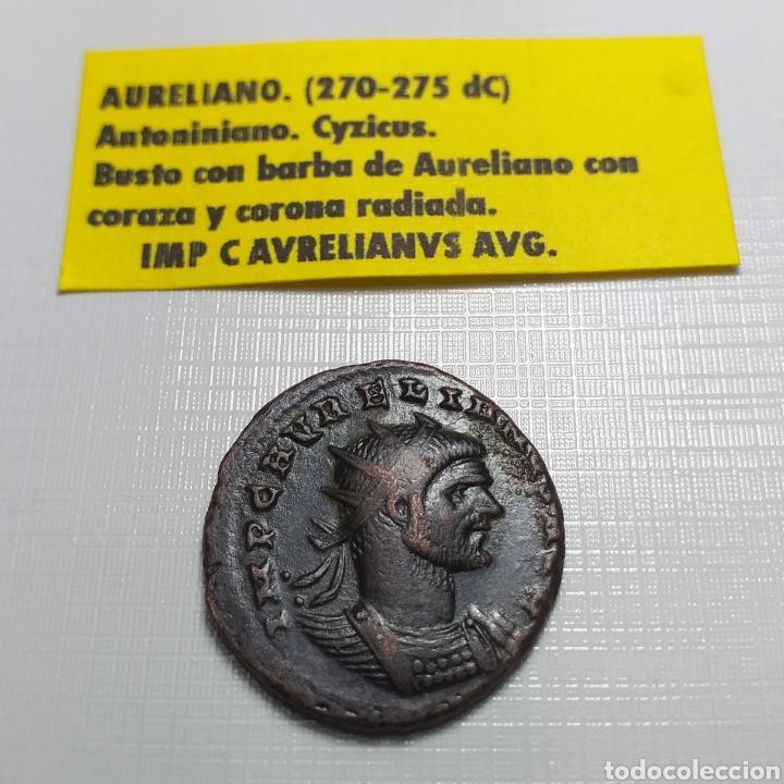 Monedas Imperio Romano: AURELIANO. (ANTONINIANO.MONEDA IMPERIO ROMANO) {270-275 d.C. CYZICUS} RESTITVTOR ORBIS. - Foto 5 - 180220141