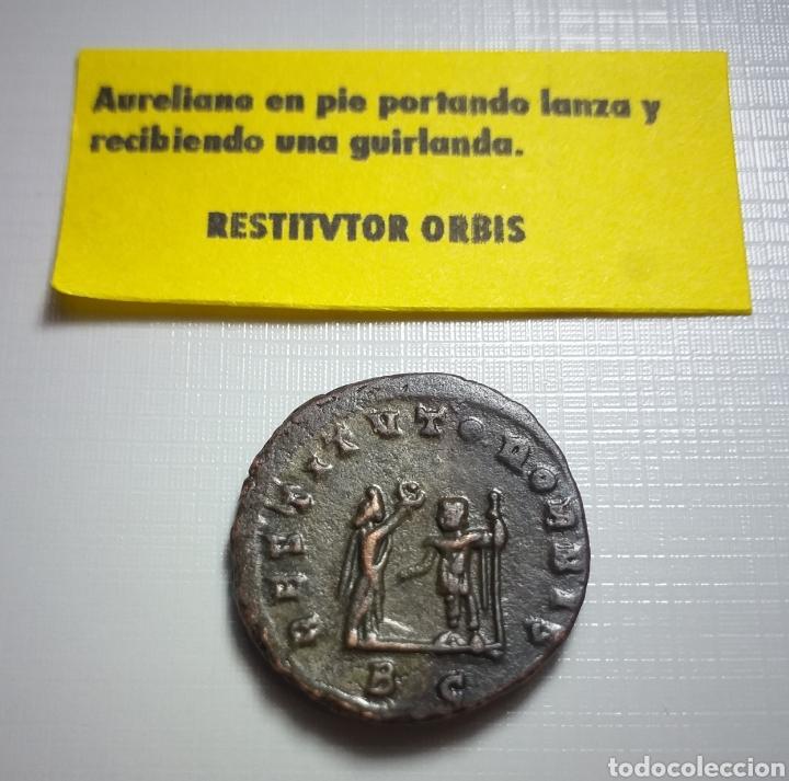 Monedas Imperio Romano: AURELIANO. (ANTONINIANO.MONEDA IMPERIO ROMANO) {270-275 d.C. CYZICUS} RESTITVTOR ORBIS. - Foto 6 - 180220141