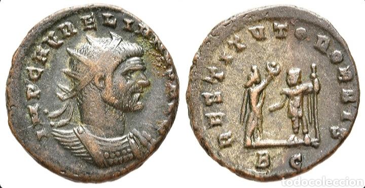 Monedas Imperio Romano: AURELIANO. (ANTONINIANO.MONEDA IMPERIO ROMANO) {270-275 d.C. CYZICUS} RESTITVTOR ORBIS. - Foto 9 - 180220141