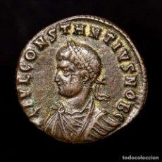Monedas Imperio Romano: CONSTANCIO II CESAR FOLLIS CYZICUS PROVIDENTIAE CAESS SMKB• (8219). Lote 180322222