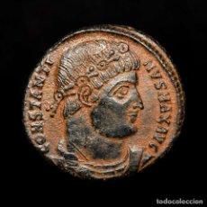 Monedas Imperio Romano: CONSTANTINO I CESAR, FOLLIS, ANTIOQUIA, GLORIA EXERCITVS SMANΔ. Lote 180918250