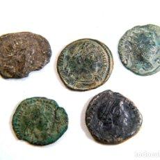 Monedas Imperio Romano: LOTE DE CINCO AUTÉNTICAS MONEDAS ROMANAS. Lote 182772523