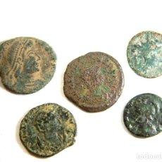 Monedas Imperio Romano: LOTE DE CINCO MONEDAS ROMANAS. Lote 182772663