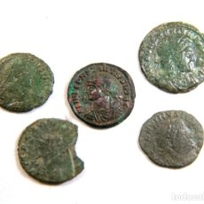 Monedas Imperio Romano: LOTE DE CINCO MONEDAS ROMANAS. Lote 182773178