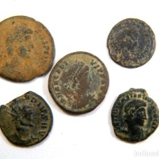 Monedas Imperio Romano: LOTE DE CINCO MONEDAS ROMANAS. Lote 182773513