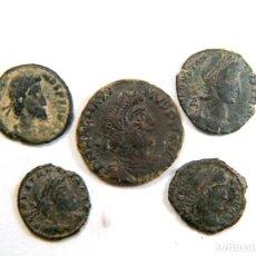 Monedas Imperio Romano: LOTE DE CINCO MONEDAS ROMANAS. Lote 182773563