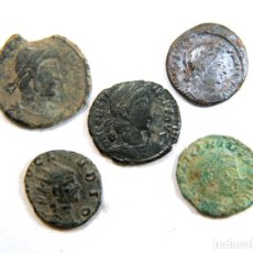 Monedas Imperio Romano: LOTE DE CINCO AUTÉNTICAS MONEDAS ROMANAS. Lote 182773688