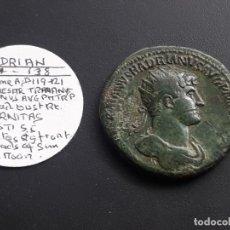 Monedas Imperio Romano: DUPONDIO DE ADRIANO. AD.119-121.IMP CAESAR TRAIANUS HADRIANUS. REV. AETERNITAS . Lote 182891301