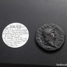 Monedas Imperio Romano: AS DE NERO .NERO CAESAR AVG GERM IMP / PACE PRV VGI PARTAIANUNM CRUSTIT S C . Lote 182893253