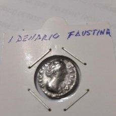 Monedas Imperio Romano: DENARIO DE FAVSTINA MADRE PRECIOSA Y CON REVERSO MUY RARO ASI. Lote 183630222