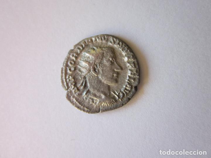 ANTONINIANO DE GORDIANO III. ORIENS AUG. PLATA. (Numismática - Periodo Antiguo - Roma Imperio)