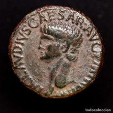 Monedas Imperio Romano: IMPERIO ROMANO - CLAUDIO I. AS DE BRONCE, ROMA 41-42 A.C. MINERVA.. Lote 183733025