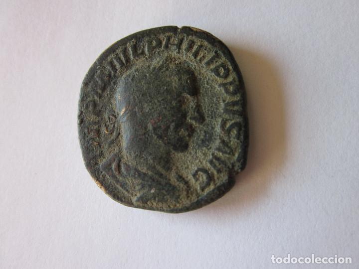 SESTERCIO DE FILIPO I. SALUS AUG. (Numismática - Periodo Antiguo - Roma Imperio)