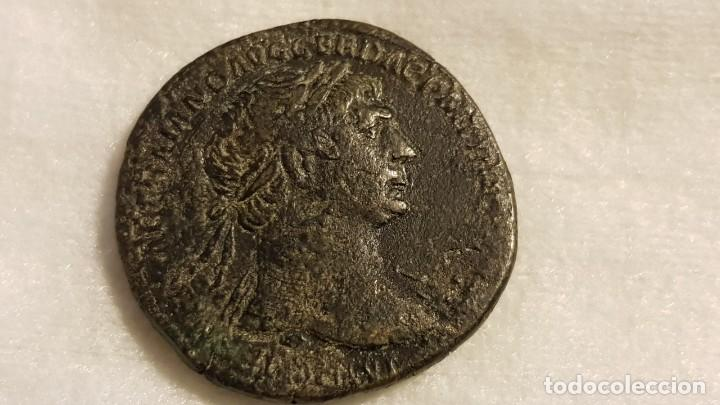 Monedas Imperio Romano: Sestercio de Trajano, MBC, Cohen 469 - Foto 4 - 183814180