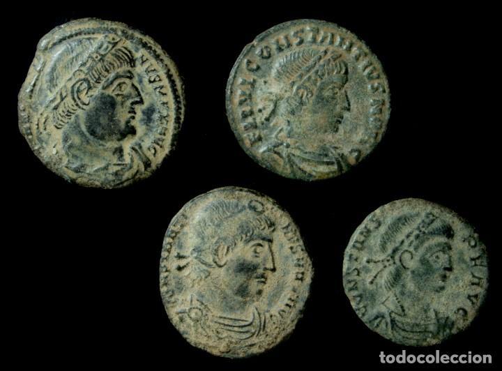 LOTE DE 4 MONEDAS ROMANAS. (Numismática - Periodo Antiguo - Roma Imperio)