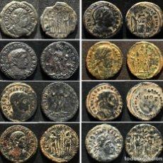 Monedas Imperio Romano: EXCELENTE LOTE 8 MONEDAS FRACCIONES CONSTANTINO FOLLIS Y NUMMUS AE BAJO IMPERIO ROMANO. Lote 184212683