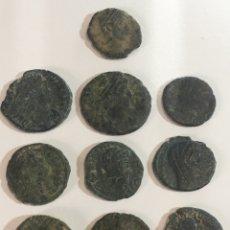 Monedas Imperio Romano: LOTE 2 DE 10 MONEDAS ROMANAS BAJÓ IMPERIO. Lote 184623931