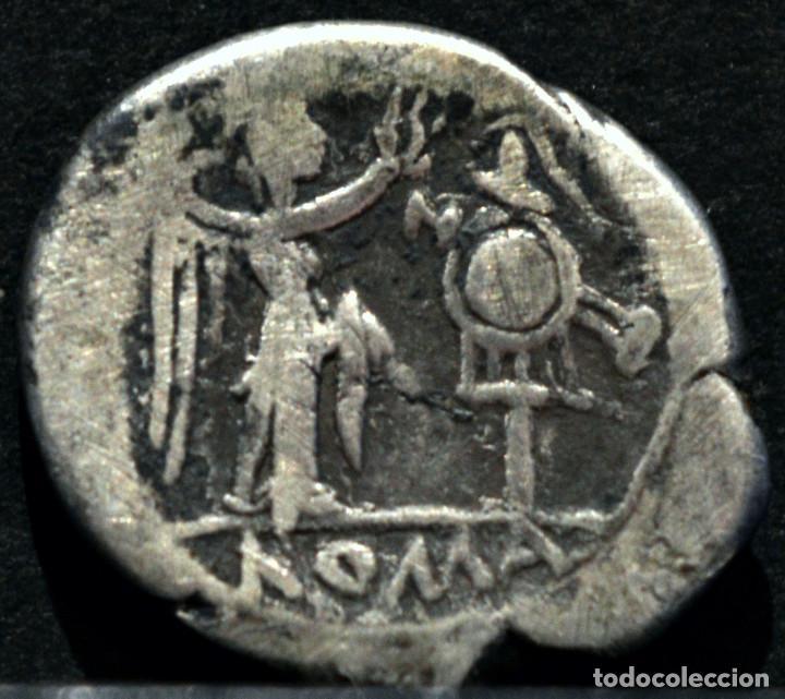 Monedas Imperio Romano: QUINARIO ANÓNIMO ROMA VICTORIATO (211-206 A.C) - Foto 3 - 86655188