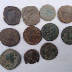 Monedas Imperio Romano: LOTE DE MONEDAS ROMANAS SESTERCIOS ETC 11 PIEZAS A IDENTIFICAR MATERIAÑ BRONCE. Lote 185930300