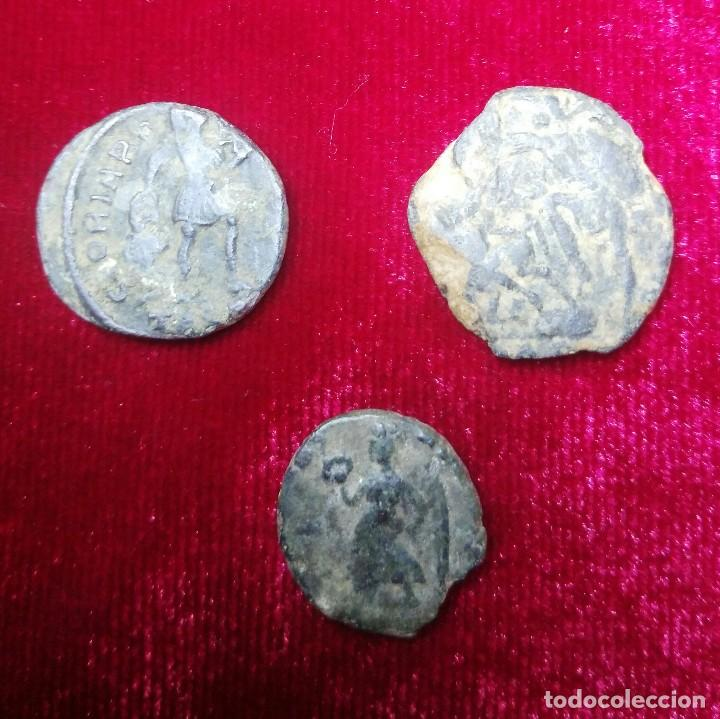 LOTE DE 3 BAJOS INPERIOS. (Numismática - Periodo Antiguo - Roma Imperio)