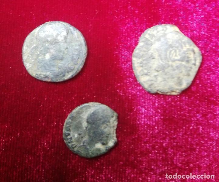 Monedas Imperio Romano: Lote de 3 bajos inperios. - Foto 2 - 187464628