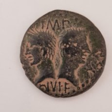 Monedas Imperio Romano: AS DE AUGUSTO (27 A.C. - 14 D.C.). CERCA DE NEMAUSUS, NIMES (FRANCIA). Lote 190232830