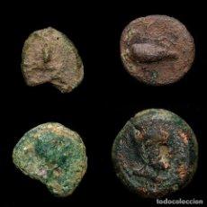 Monedas Imperio Romano: LOTE DE 4 MONEDAS HISPÁNICAS ROMANAS-. Lote 191870902