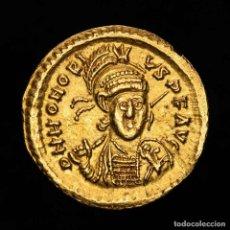 Monedas Imperio Romano: HONORIO (393-423 DC) SOLIDO DE ORO, TESALONICA.. Lote 194377451