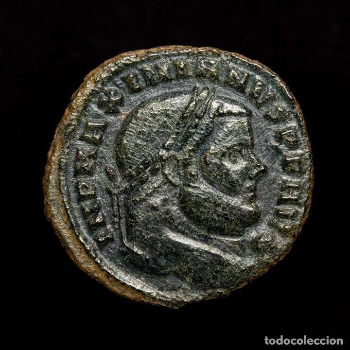 Monedas Imperio Romano: Maximiano 286-305 Follis. Cartago. SALVIS AVGG ET CAESS FEL KART / B - Foto 2 - 194499916