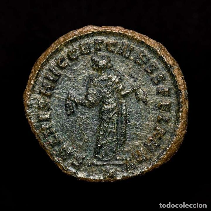 MAXIMIANO 286-305 FOLLIS. CARTAGO. SALVIS AVGG ET CAESS FEL KART / B (Numismática - Periodo Antiguo - Roma Imperio)