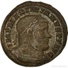Monedas Imperio Romano: MONEDA, MAXIMIANUS, FOLLIS, 302-303, TRIER, MBC, COBRE, COHEN:189 VAR. Lote 194726415