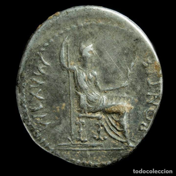 Monedas Imperio Romano: Denario de Tiberio - PONTIF MAXIM - 18 mm / 3.77 gr. - Foto 2 - 194779187