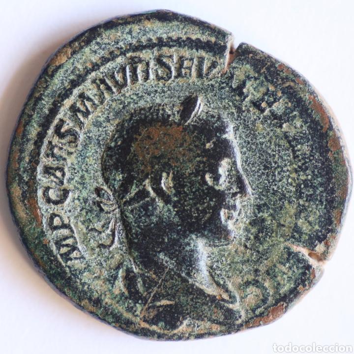 ENORME SESTERCIO ALEJANDRO SEVERO LIBERALITAS ROMA (Numismática - Periodo Antiguo - Roma Imperio)
