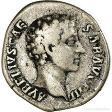 Monedas Imperio Romano: MONEDA, MARCUS AURELIUS, DENARIUS, 145-147, ROME, BC+, PLATA, RIC:429A. Lote 195346997