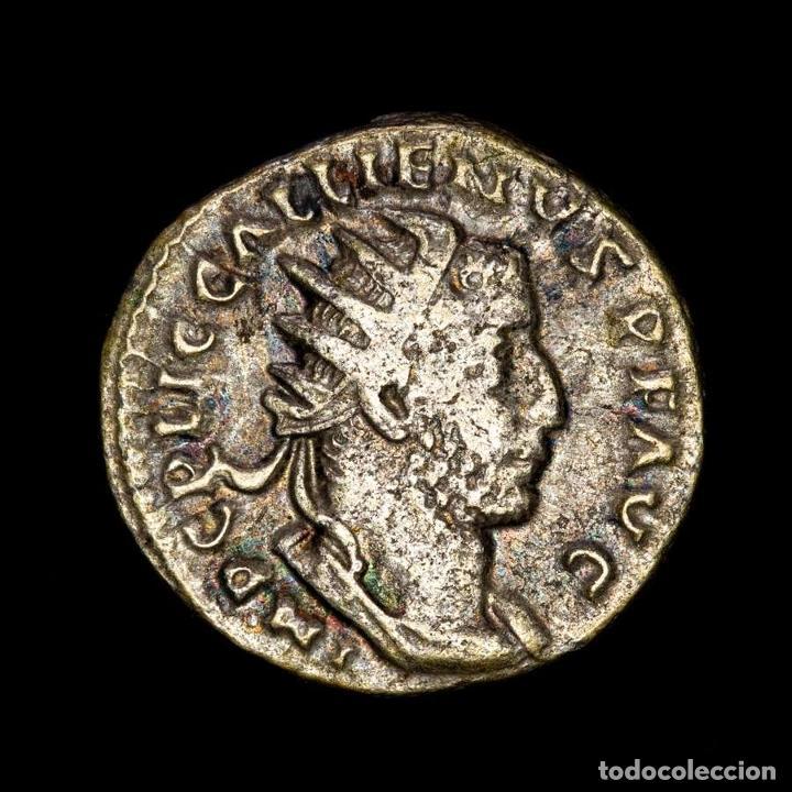 IMPERIO ROMANO - GALLIENUS ANTONINIANO. ROMA. VICTORIAE AVGG IT GERM (Numismática - Periodo Antiguo - Roma Imperio)