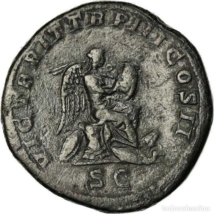 Monedas Imperio Romano: Moneda, Geta, Sestercio, 211, Rome, Rare, MBC, Bronce, RIC:172b - Foto 2 - 195374811