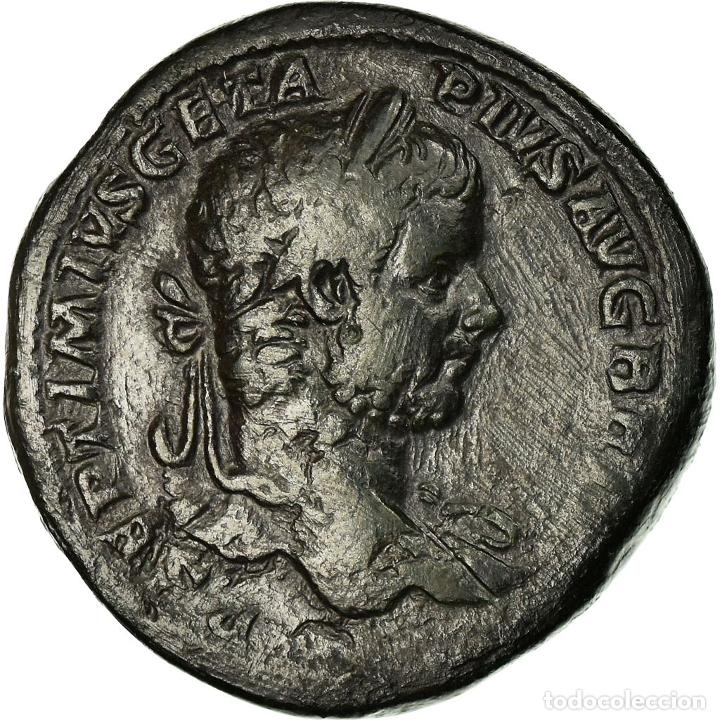 MONEDA, GETA, SESTERCIO, 211, ROME, RARE, MBC, BRONCE, RIC:172B (Numismática - Periodo Antiguo - Roma Imperio)