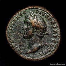 Monedas Imperio Romano: ANTONINO PIO, SESTERCIO DE BRONCE. ROMA 140-144. GENIO SENATVS. RARA. Lote 195410617