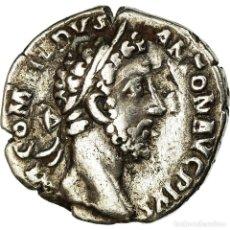 Monedas Imperio Romano: MONEDA, COMMODUS, DENARIUS, 184, ROMA, FOURRÉE, MBC, PLATA, RIC:82. Lote 195415152