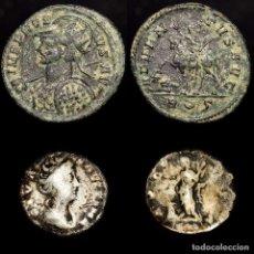Monedas Imperio Romano: LOTE DIVA FAUSTINA. DENARIO. PIETAS AVGVSTA + PROBO ADVENTVS AVG. Lote 195461711