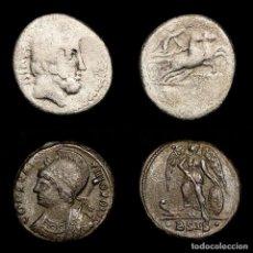 Monedas Imperio Romano: LOTE DE DOS MONEDAS L. TITURIUS L.F. SABINUS Y CONSTANTINOPOLIS.. Lote 195462738