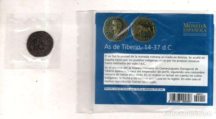 Monedas Imperio Romano: HISTORIA DE LA MONEDA ESPAÑOLA. EL MUNDO. AS DE TIBERIO. - Foto 2 - 267541174